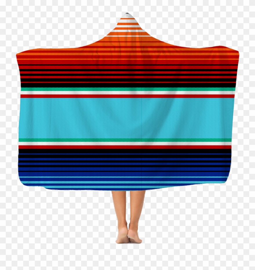Serape Nights premium Adult Hooded Blanket Clipart.