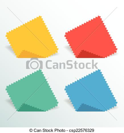 Vector Illustration of Paper Serrated.