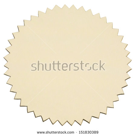 Round Label Serrated Edges Isolated On Stock Photo 146489513.