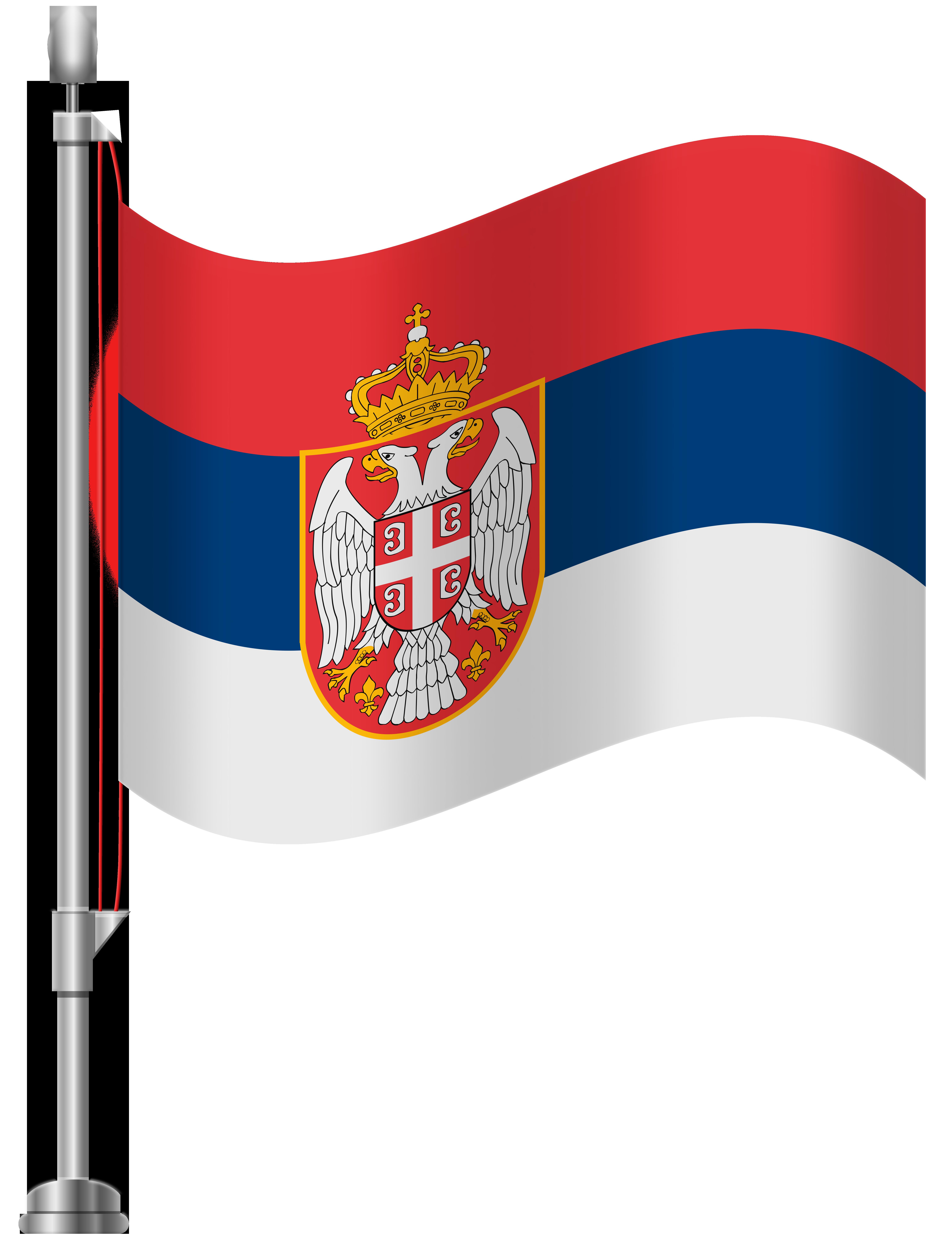 Serbia Flag PNG Clip Art.