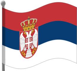 Serbia Flag Waving Clip Art Download.