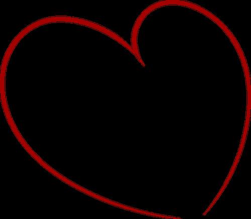 Ołówkiem rysowane serce wektor clipart.