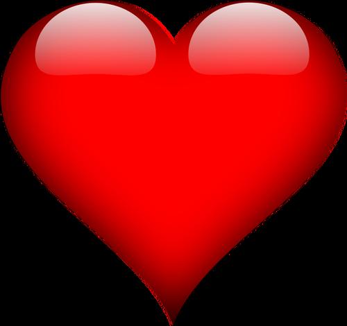 Czerwone serce grafiki clipart.
