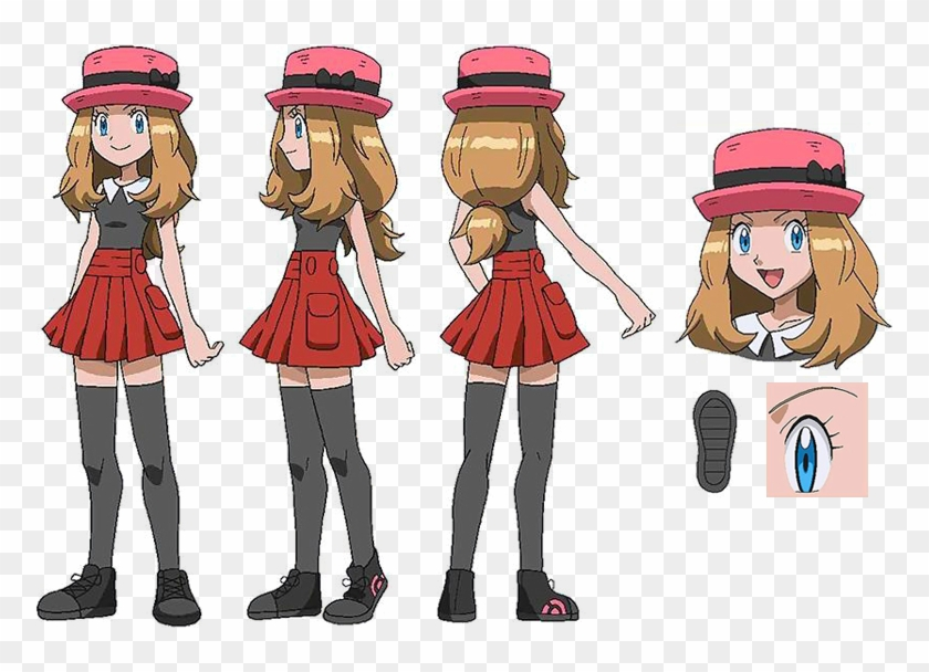 Pokemon Serena Hairstyle, HD Png Download.
