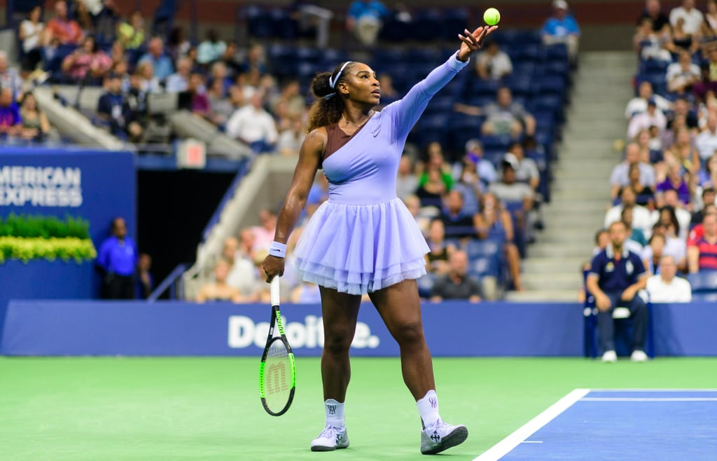Why does it say \'logo\' above Nike\'s logo on Serena Williams.