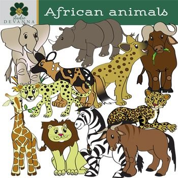 African Animals Clip Art.