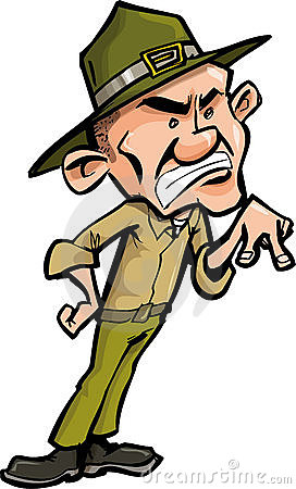 Drill Sergeant Stock Illustrations.