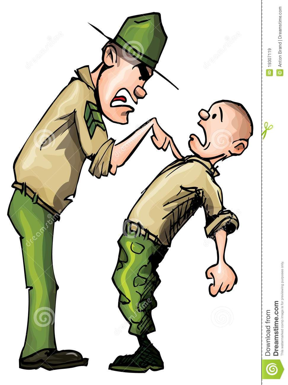 Air Force Drill Sergeant Clip Art.