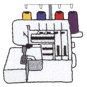 Serger Embroidery Design.