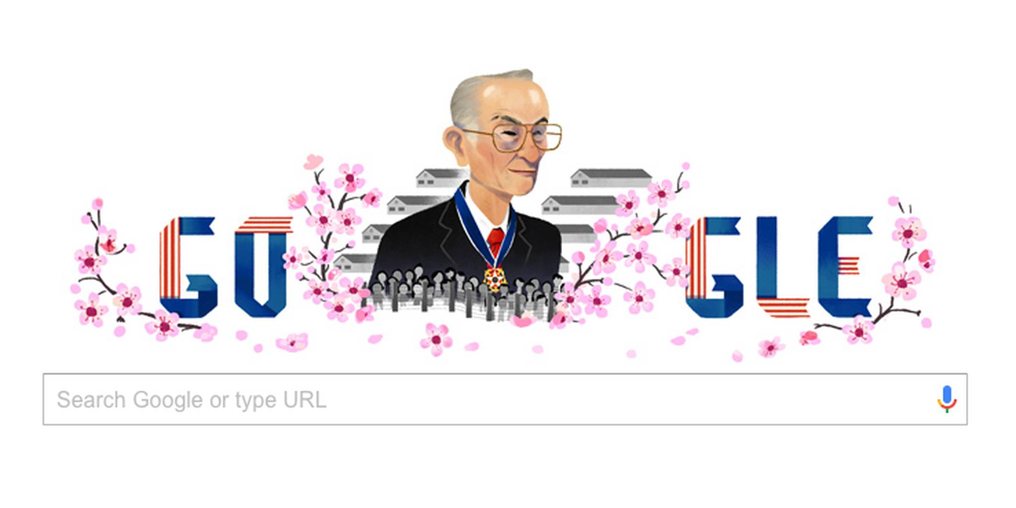 Google Doodle Celebrates Civil Rights Activist Fred Korematsu.