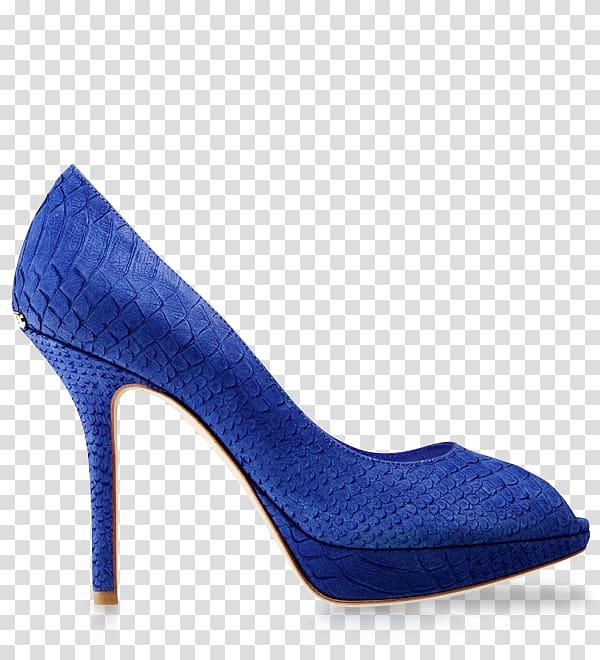 Blue Shoe Absatz Areto.