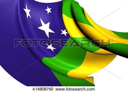 Stock Illustrations of Flag of Sergipe, Brazil. k14808750.