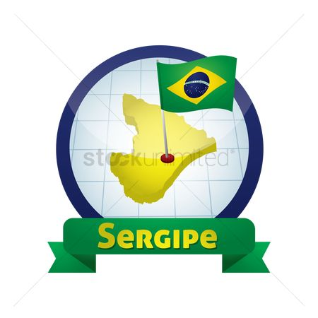 Free Sergipe Map Stock Vectors.