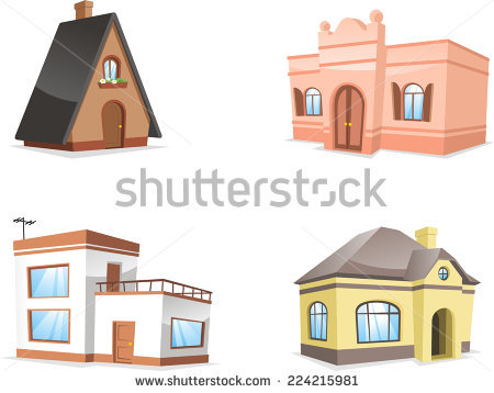 Semi Detached House Stock Images, Royalty.