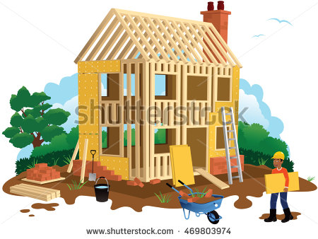 Detached House Stock Images, Royalty.