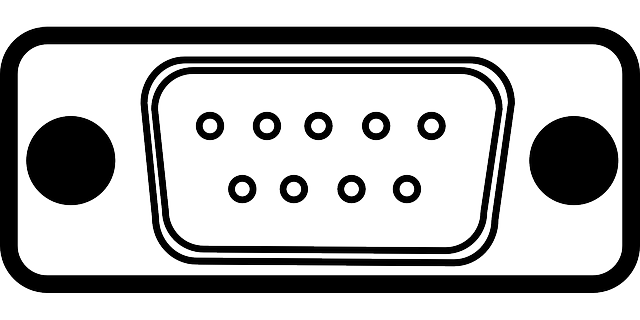 Free vector graphic: Port, Serial Port, Plug, Connector.