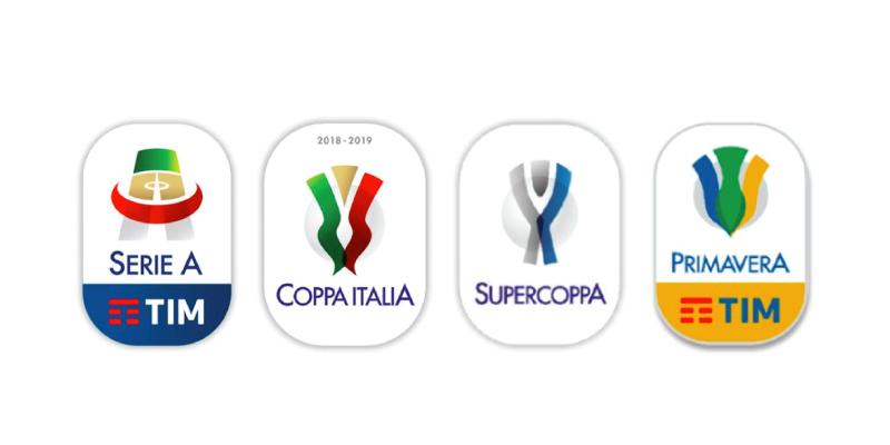 I nuovi loghi di Serie A, Coppa Italia e Supercoppa.