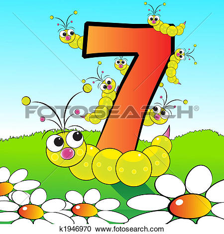 Clipart of Numbers serie for kids.