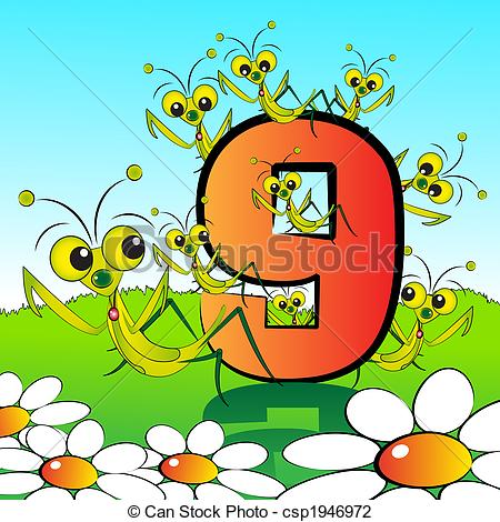Clip Art of Numbers serie for kids.