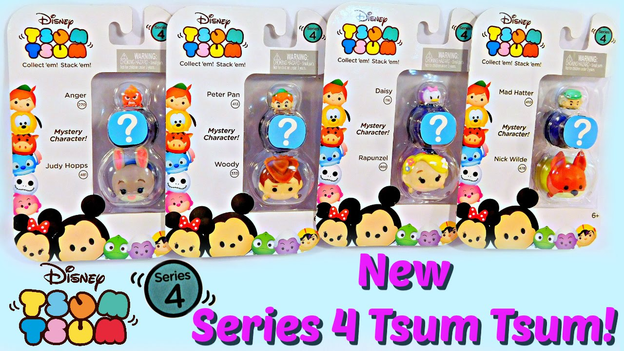 New Tsum Tsum Series 4 3 Packs With Mystery Characters Limited.