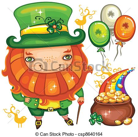 EPS Vector of St. Patrick's Day set series 4.