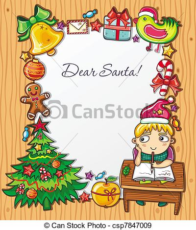 EPS Vectors of letter to Santa Series 4.