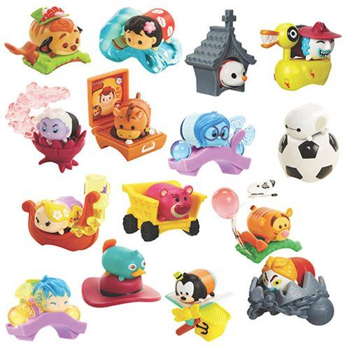 Jakks Vinyl Stacking Tsum Tsums Disney Series 4 and Marvel Series.