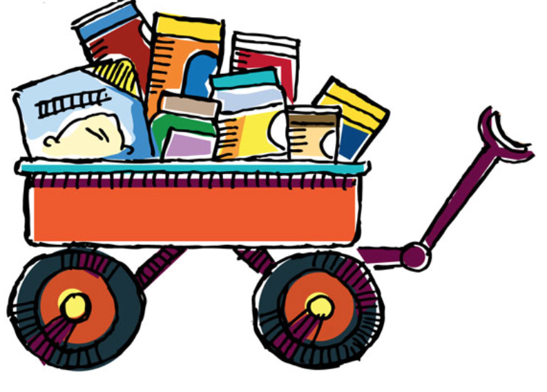 Food bank drive thank you clipart.