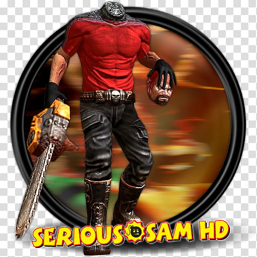Games , Serious Sam HD logo transparent background PNG.