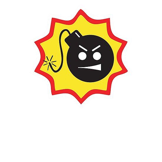 \'Serious Sam Bomb Logo\' Photographic Print by 16TonPress.