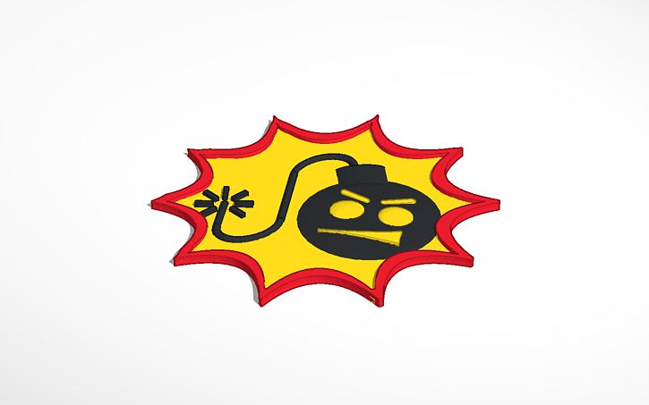 3D design Serious Sam logo.