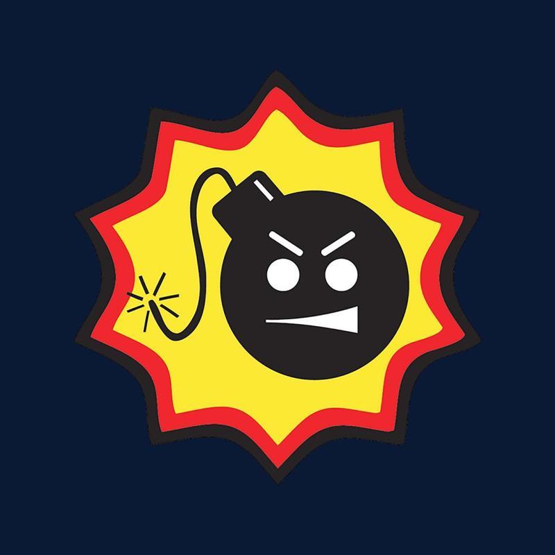 Serious Sam Bomb Logo Men\'s Varsity Jacket.