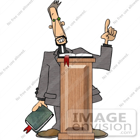 Preacher Giving a Sermon Clipart.