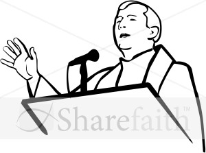 The Sermon Clip Art.
