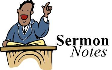 Sermon Notes Clipart.