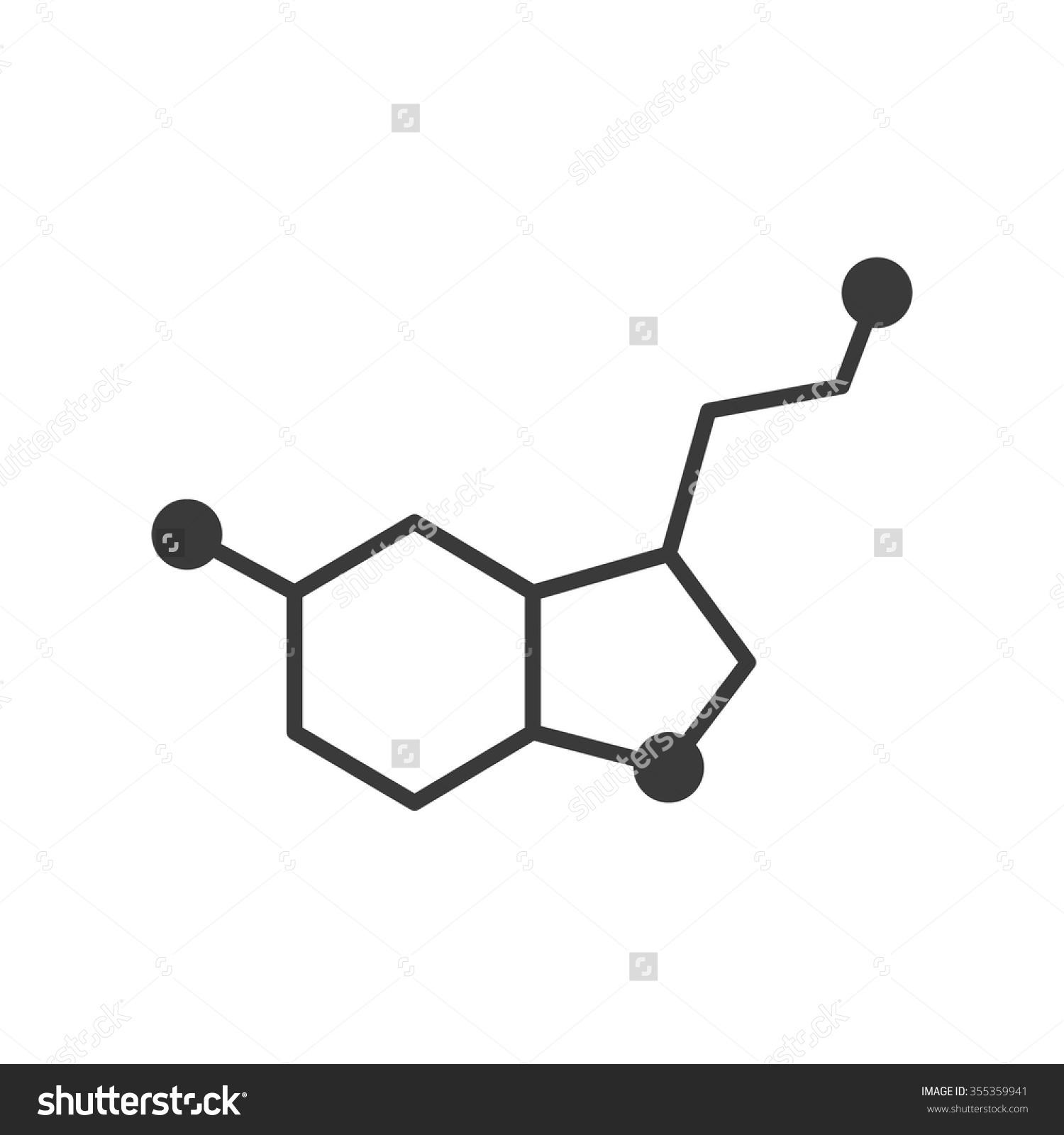 Serotonin and Dopamine Clip Art.