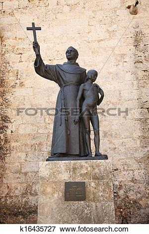 Picture of Statue of Fray Junipero Serra k16435727.