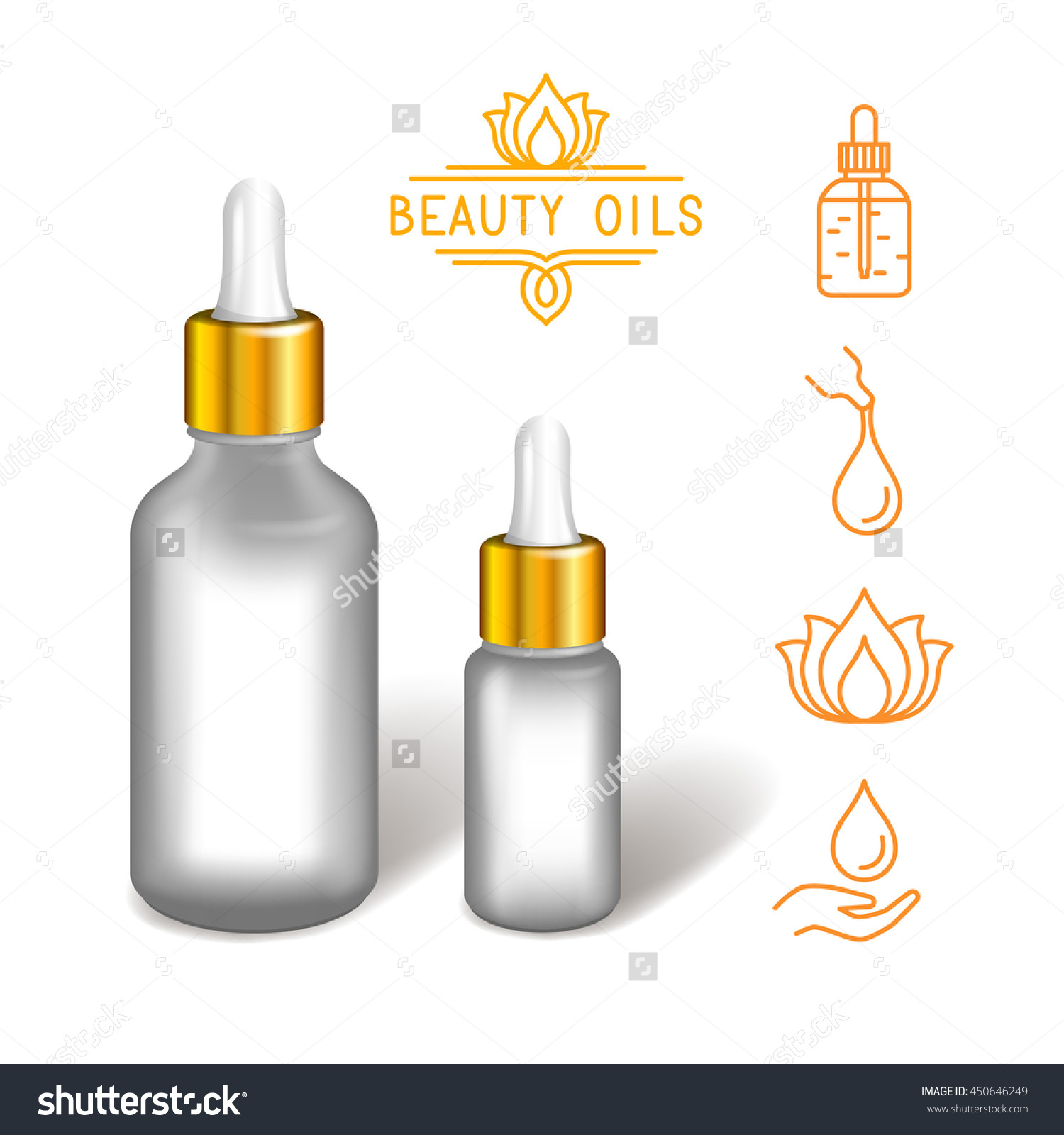 Oil Gel Lotion Serum Elixir Bottle Stock Vector 450646249.