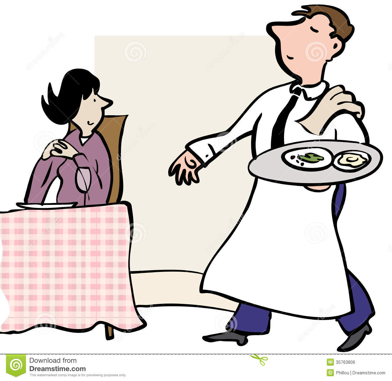 Serve dinner clipart.