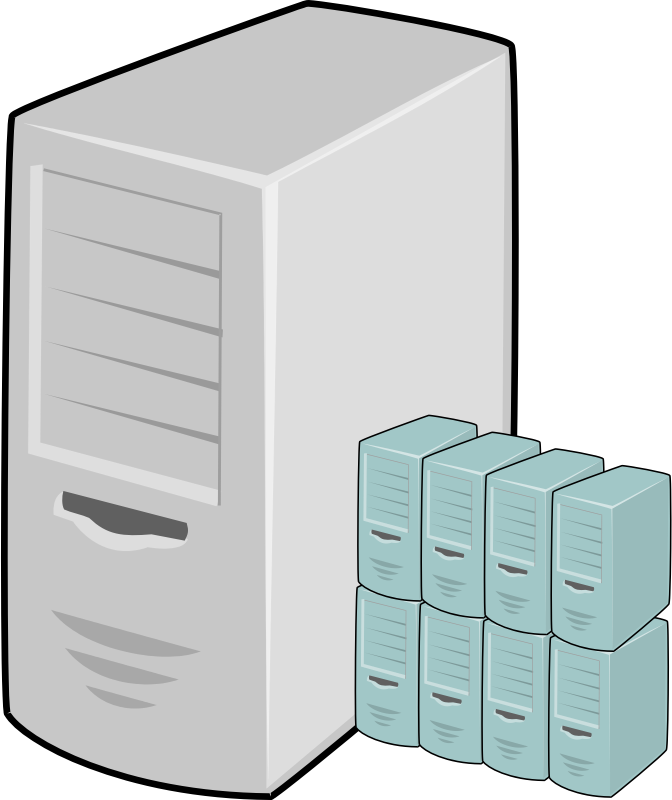 Virtual server clipart.