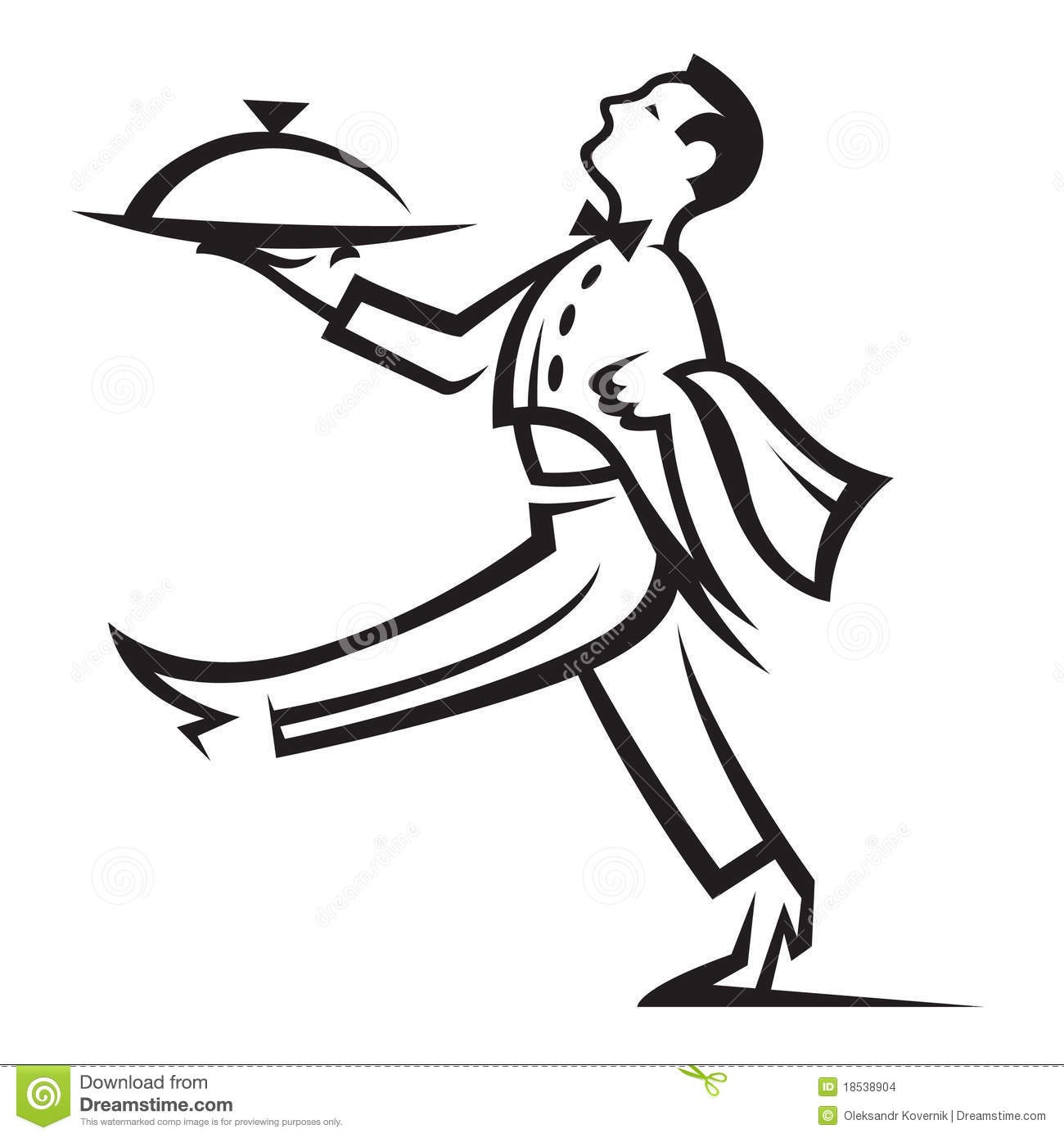 Food Server Clipart (9+).