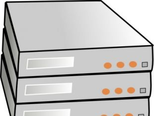 Wide Server Rack clip art.