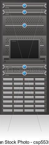 Vector of Server Rack.