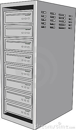 Server 2c Rack Mounted Servers Stock Illustrations.