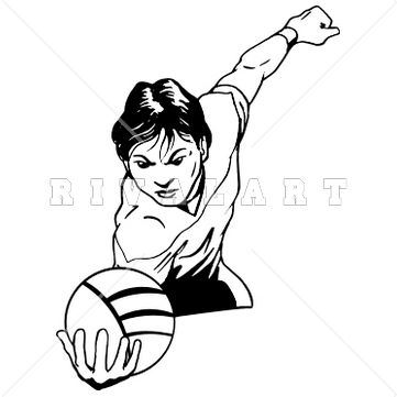 Mascot Clipart Image of a Volleyball Player Graphic http://www.