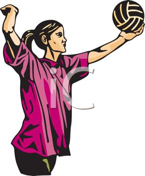Volleyball Serve Clipart.