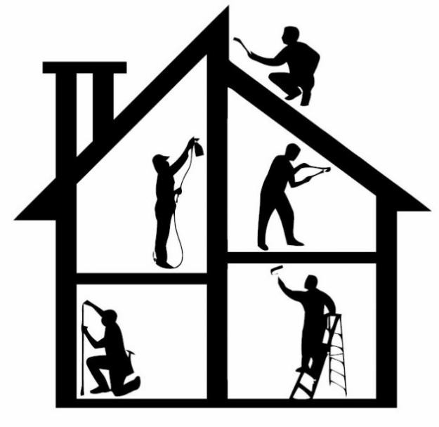 Building a home clipart.
