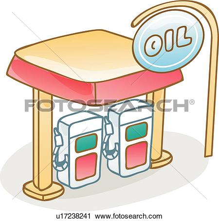 Clipart of gas station, structure, building, architecture.