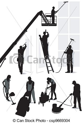 EPS Vector of Building services and cleaning csp9669304.