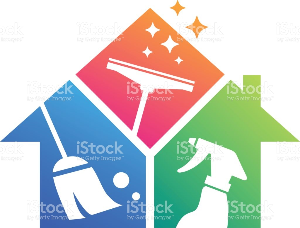 Home Cleaning Cleaning Service Building Cleaning stock vector art.